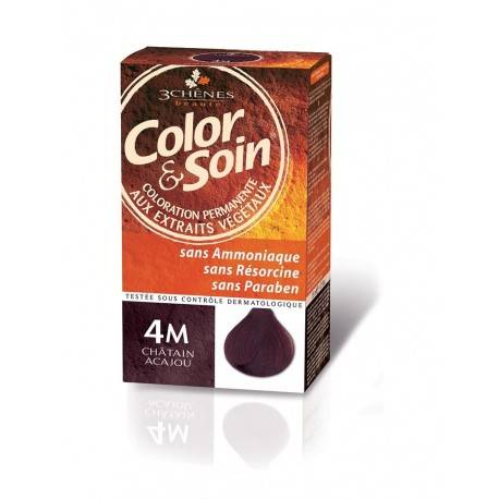 COLORATION CHATAIN ACAJOU 4M