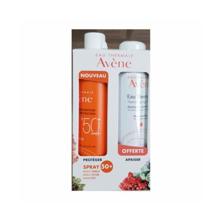 COFFRET ECRON SPRAY ADULTE SPF50+& EAU THERMAL 150 MLOFFERTE AVENE