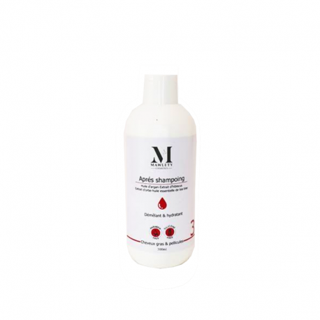MAWLETY APRES SHAMPOING CHEVEUX GRAS & PELLICULES SANS SULFATE