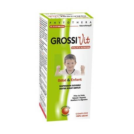 PHYTOTHERA GROSSIVIT SUSPENSION BUVABLE BEBE ET ENFANT - 240ML
