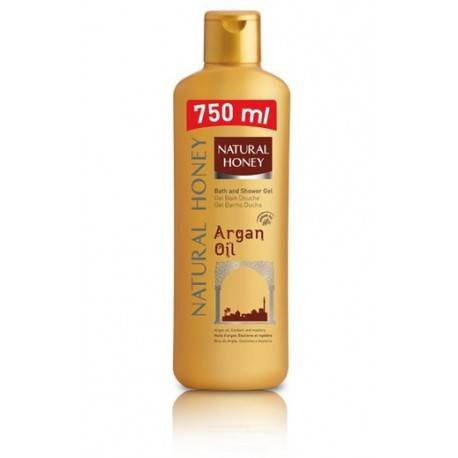 Gel douche 750ml Natural Honey huile d'argan