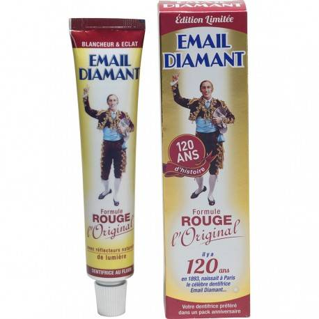 Email Diamant Dentifrice Formule Rouge, 50ml