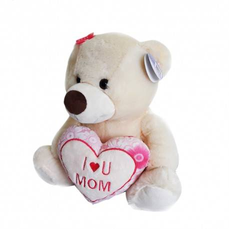 OURS EN PELUCHE I LOVE U MOM
