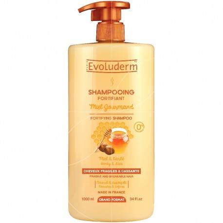 EVOLUDERM SHAMPOOING FORTIFIANT MIEL GOURMAND & KARITÉ 1L